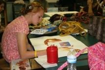 SFHS Student Tory Weinke at work