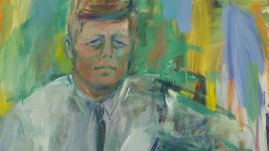 Elaine De Kooning John F. Kennedy (Detail) 1963 Oil on canvas National Portrait Gallery, Smithsonian Institution