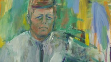 Elaine De Kooning John F. Kennedy (Detail) 1963 Oil on canvas National Portrait Gallery, Smithsonian Institution